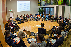 'Brainstorming session' during iDiv Annual Conference (photo: Stefan Bernhardt).