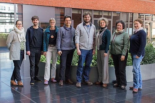 The workshop participants (from left): Anett Richter, Steffen Klotz, Andrea Sieber, Jörg Zabel, David Ziegler, Susanne Hecker, Didone Frigerio, Victoria Miczajka-Russmann (photo: Stefan Bernhardt).